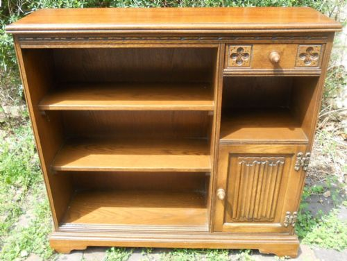 Oak Open Bookcase by Old Charm